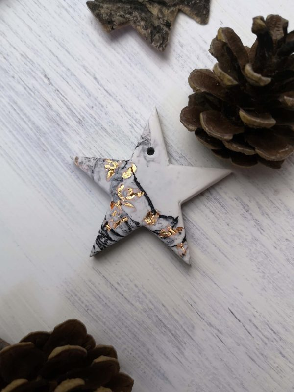 Copper Marbled Star Decoration main photo
