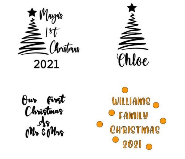 Personalised Christmas Bauble photo 2