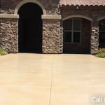 Epoxy Concrete Stained Driveway in Phoenix