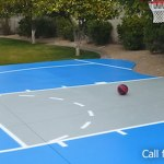 Epoxy Stained Concrete Basketball Court in Phoenix