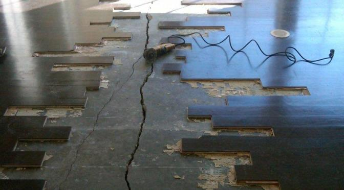 Concrete Slab Under Wood Floor Crack Repair Roadware Incorporated