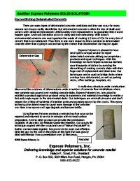 Use Roadware 10 Minute Concrete Mender to repair and re-bond delaminated concrete slabs.