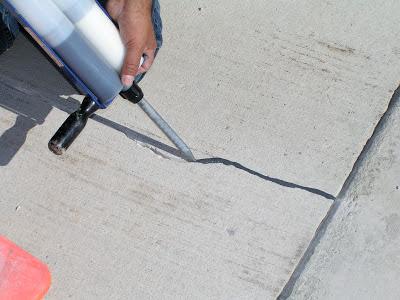 Roadware Flexible Cement II in concrete.