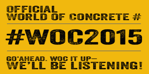 World of Concrete 2014 is next week.
