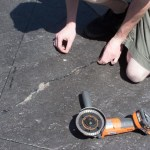 Stamped Concrete Crack Repair with MatchCrete™ Clear.