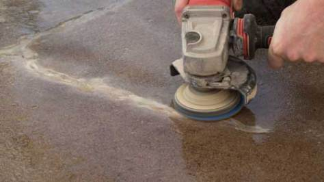 Wet and damp grinding and polishing reduces dust generation.