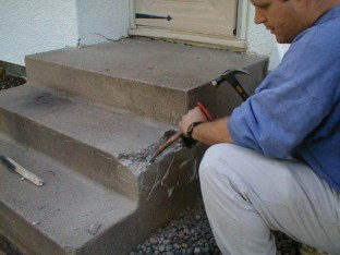 Remove loose concrete.