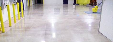 Polished concrete joint and crack repair in a commercial floor with Concrete Mender™.