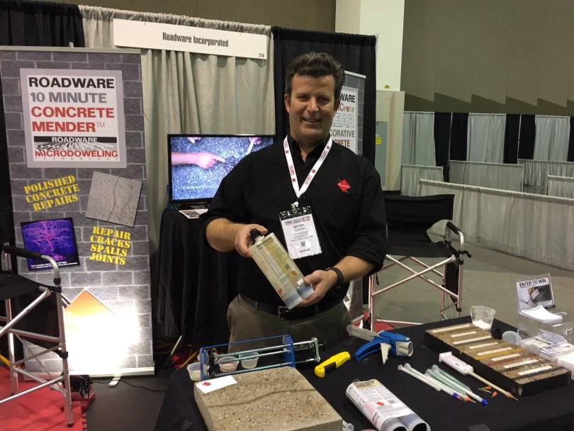 Kelton Glewwe at the Concrete Polishing and Staining Conference with Roadware.