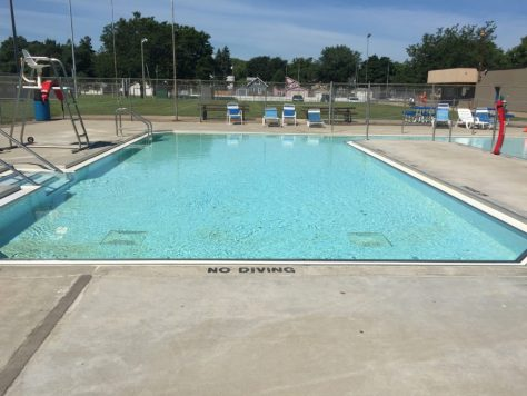 The South Saint Paul Splash Pool in 2017. Concrete Mender repairs in the pool still look good 16 years later.