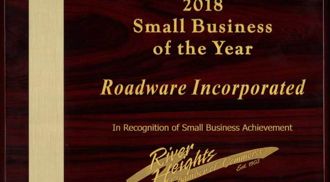 Roadware 2018 Small Business of the Year – River Heights Chamber of Commerce