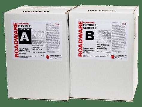 91050 Roadware Flexible Cement II 10-Gallon Kit Carton Packaging.