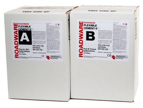 91050 Roadware Flexible Cement II 10-Gallon Kit Carton Packaging.