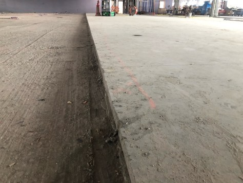Edge delaminations to topping slabs repaired with Roadware 10 Minute Concrete Mender™ and the Easy Injection system.