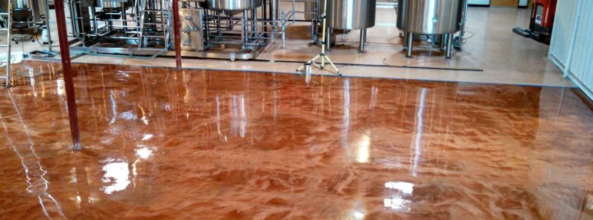 Project photos of epoxy floor coating systems