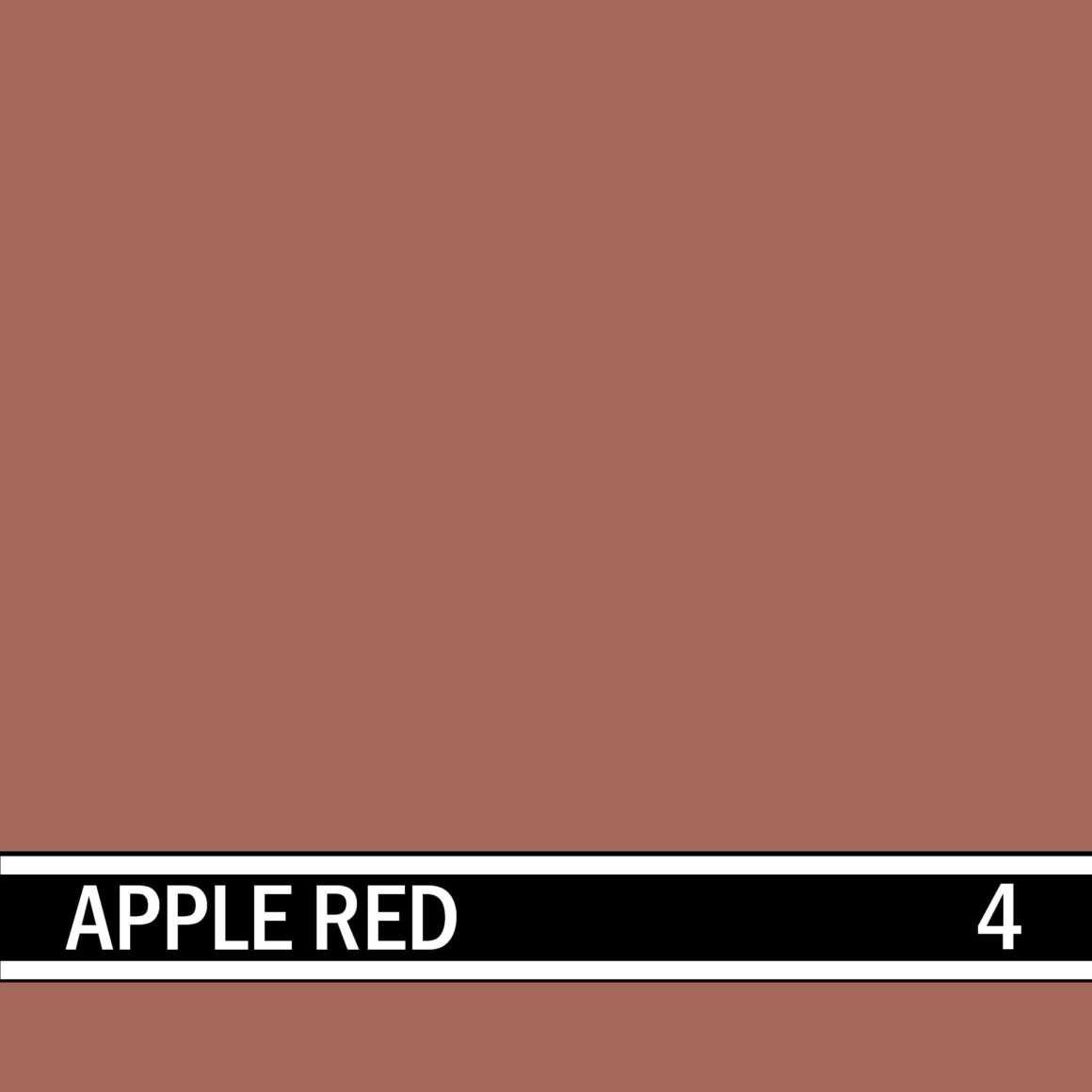 Apple Red integral concrete color for stamped concrete and decorative colored concrete