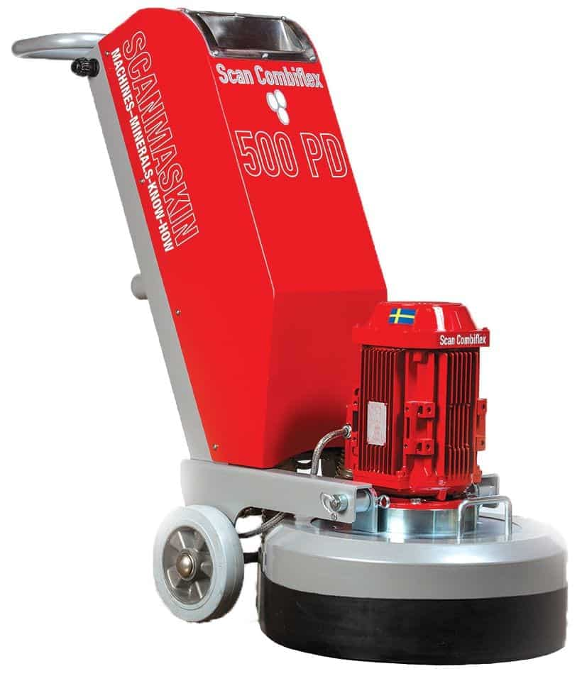 Scanmaskin Combiflex 500 PD Concrete Grinder and Polisher is a concrete grinder less than $10000 cost