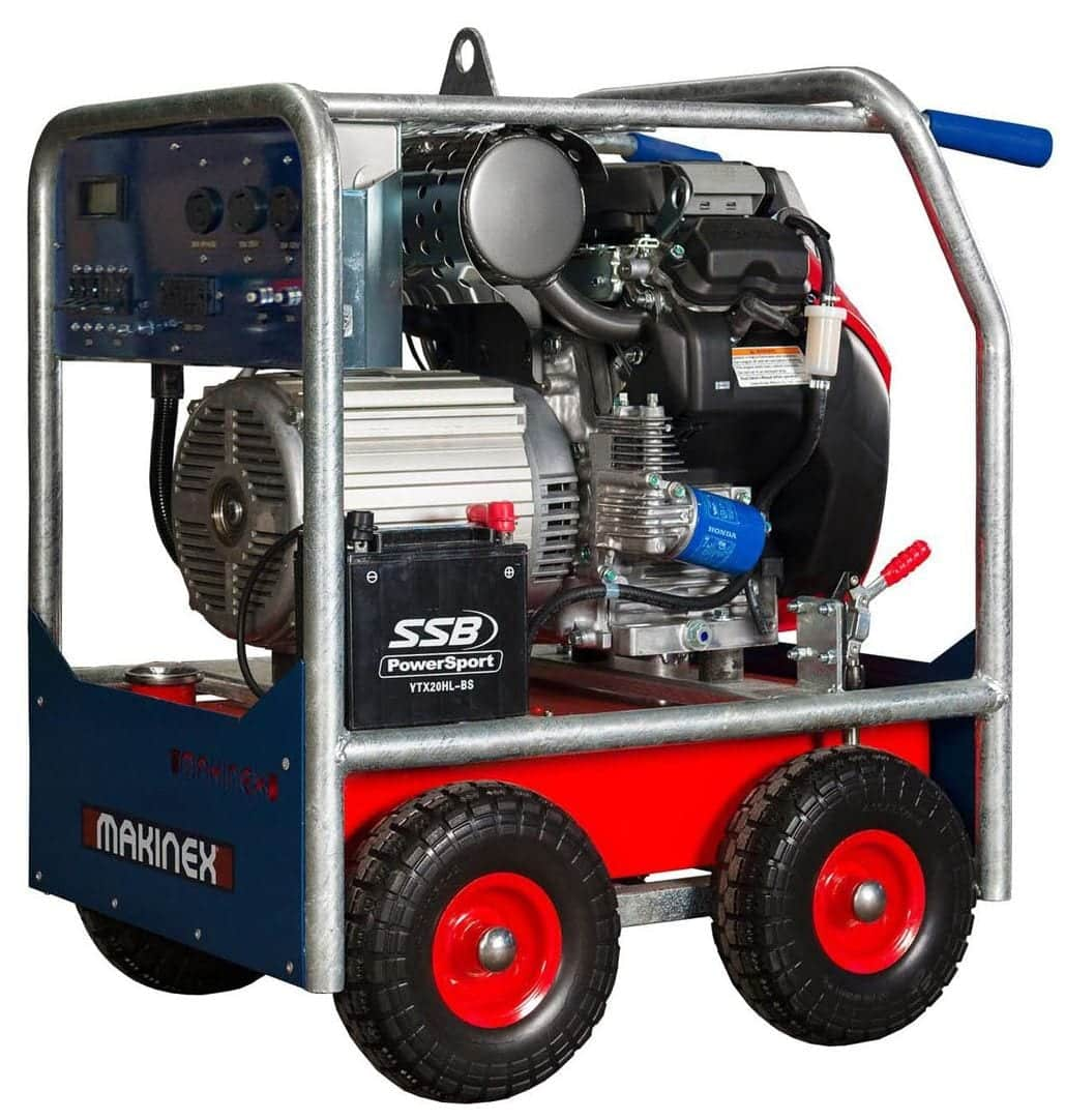 Makinex Portable Industrial Generator 16 KW 460 Volt Three Phase Power for large concrete grinding equipment