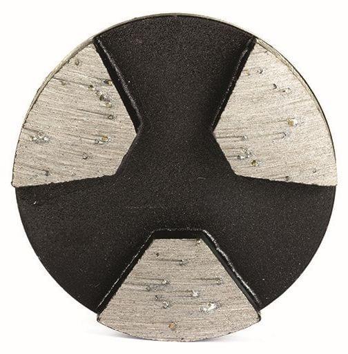 Roundon segmented concrete grinding diamond tool with three diamond segments for concrete grinders