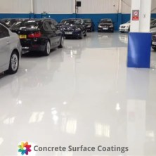 csc car dealership epoxy floor