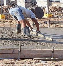 Hand Screeding Concrete