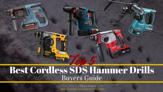 Best Cordless SDS Hammer Drills – Complete 2019 Buyers Guide