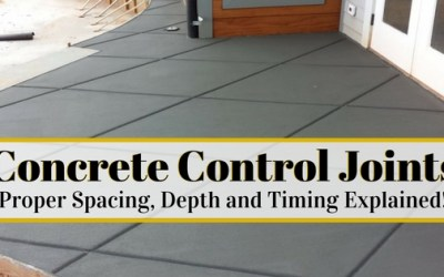 Concrete Control Joints – Proper Spacing, Depth and Timing Explained