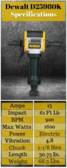 Dewalt D25980K Specifications