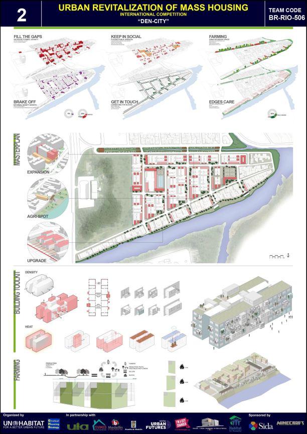 Concurso Mass Housing - Regional - América Latina e Caribe - Segundo Lugar - Prancha 2