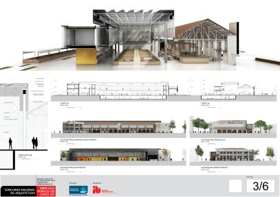 Concurso de Arquitetura - Mercado Público de Lages - 2º Lugar - Prancha 03