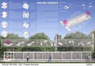 Premiados – Concurso de Ideias para Estudantes – #020 Pavilhão Projetar Itinerante - Terceiro Lugar - Prancha 01