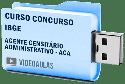 Ibge Agente Censitário Administrativo ACA Curso Vídeo Aulas