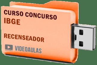 IBGE Recenseador Curso Videoaulas Pendrive