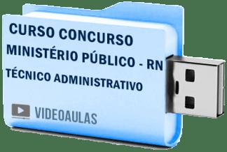 Curso Concurso Vídeo Aulas Ministério Público – RN – Técnico Administrativo Pendrive