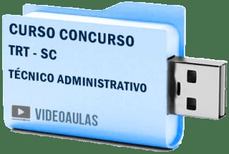 Curso Concurso Vídeo Aulas Tribunal Regional Trabalho TRT SC Técnico Administrativo