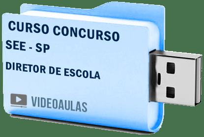 SEE SP Secretaria Educação Diretor Escola Concurso Curso Vídeo Aulas