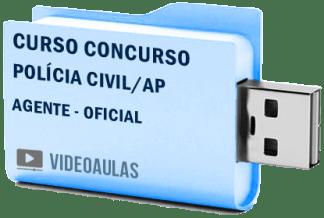 Curso Concurso Vídeo Aulas Polícia Civil PC – AP Agente e Oficial – Pendrive