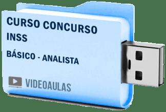 Concurso INSS Analista Curso Básico Videoaulas Pendrive