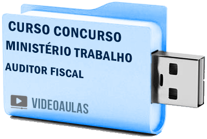 Curso Vídeo Aulas Concurso Mte Auditor Fiscal Trabalho Aft 2018 Pendrive