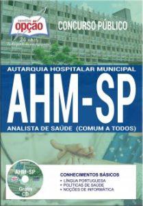 Apostila Concurso AHM SP 2017 ANALISTA DE SAÚDE