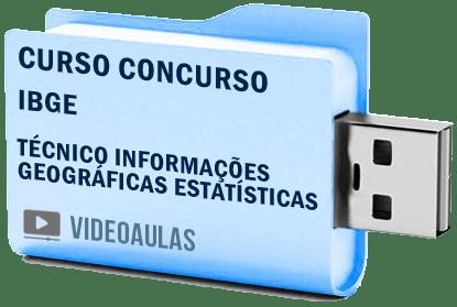 Curso Vídeo Aulas Concurso IBGE Técnico Informações Geográficas Estatísticas