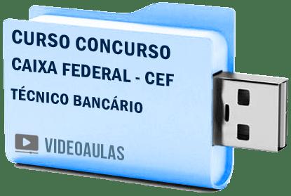 Curso Completo Concurso Caixa CEF Técnico Bancário Vídeo Aulas 2018 – Pendrive