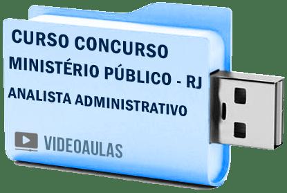Curso Concurso Vídeo Aulas Ministério Público – RJ – Analista Administrativo 2018 Pendrive