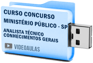 Curso Vídeo Aulas Concurso Ministério Público – SP – Analista Técnico Científico – Pendrive