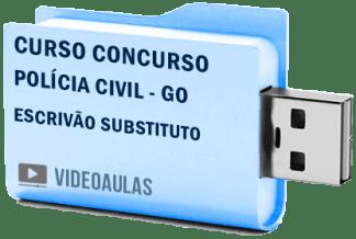 Curso Concurso Polícia Civil – GO – Escrivão Substituto – Videoaulas Pendrive