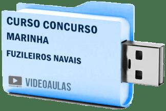Curso Concurso Marinha - Fuzileiros Navais Videoaulas Pendrive