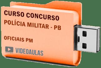 Concurso Polícia Militar PB Oficiais Curso Videoaulas