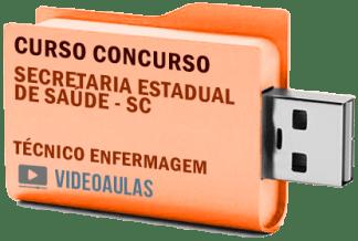 Concurso SES – SC – Técnico em Enfermagem Curso Videoaulas