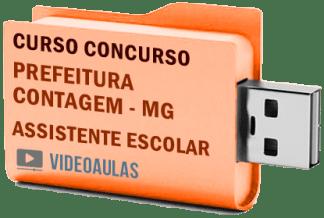 Concurso Prefeitura Contagem – MG – Assistente Escolar – Curso Videoaulas Pendrive