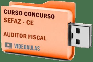 Concurso SEFAZ – CE – Auditor Fiscal – Curso Videoaulas Pendrive